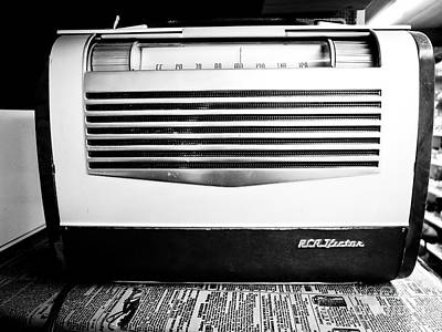 Old Radio Photograph - Vintage Radio by Edward Fielding