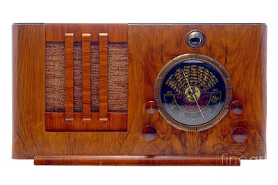 Cabinet Photograph - Vintage Radio by Olivier Le Queinec