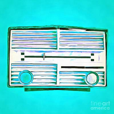 Pop Art Royalty-Free and Rights-Managed Images - Vintage Radio Pop Art by Edward Fielding