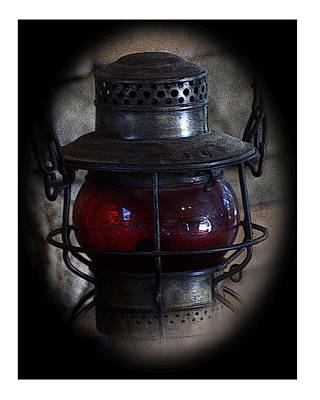 Photograph - Vintage Railroad Lantern by TnBackroadsPhotos