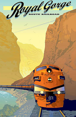 Vintage Railroad Poster Art Print