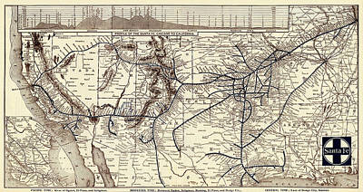 Photograph - Vintage Railway Map 1904 by Andrew Fare