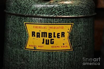 Finds A Way Photograph - Vintage Rambler Insulated Jug by JW Hanley