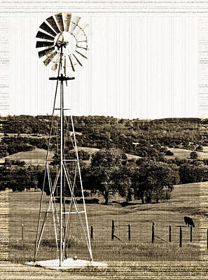 Photograph - Vintage Ranch Windmill by Holly Blunkall