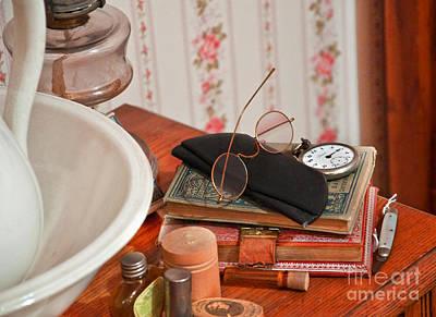 Photograph - Vintage Reading Glasses Still Life Art Prints by Valerie Garner