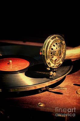 Vintage Record Player Art Print by Jill Battaglia