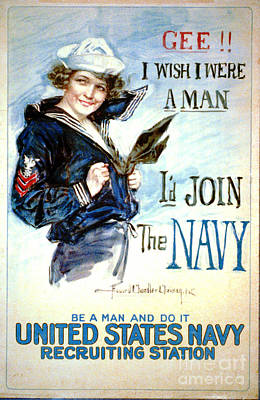 Vintage Recruiting Poster 1917 Art Print by Padre Art