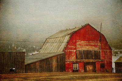 Photograph - Vintage Red Barn by Theresa Tahara