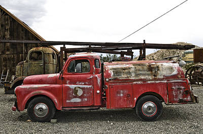 Old Hotrod Photograph - Vintage Red Chevrolet Truck by Gianfranco Weiss