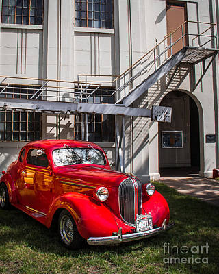Street Rod Photograph - Vintage Red by Perry Webster