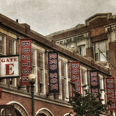 Red Sox Photograph - Vintage Red Sox - Fenway Park by Joann Vitali