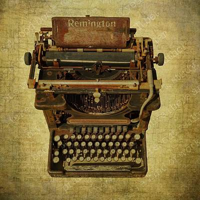 Photograph - Vintage Remington Typewriter by Sandra Selle Rodriguez