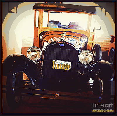 Photograph - Vintage Ride  by Bobbee Rickard