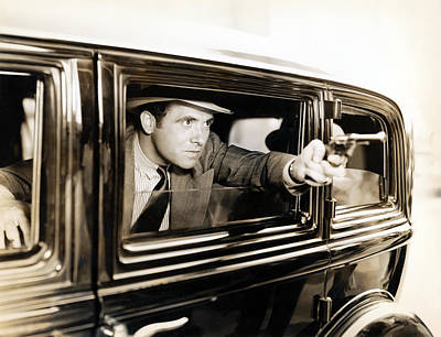 Raging Photograph - Vintage Road Rage by Historic Image