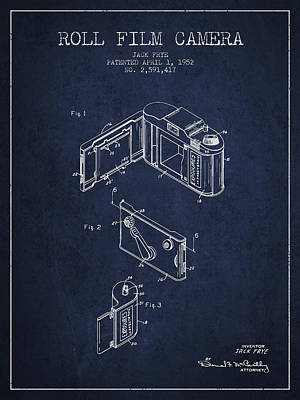 Vintage Roll Film Camera Patent From 1952 Art Print by Aged Pixel