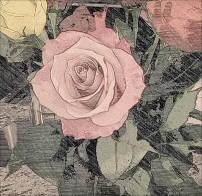 Vintage Romance Rose Art Print