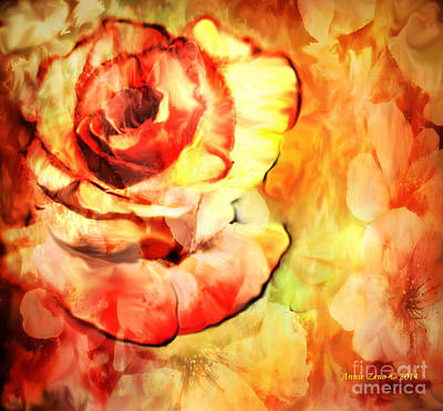 Painting - Vintage Rose by Annie Zeno