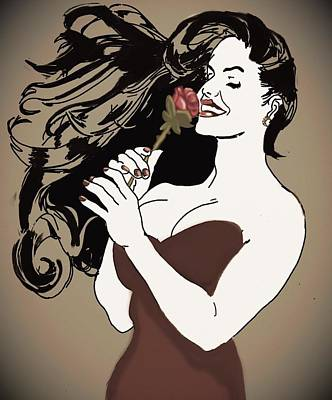 Katharine Hepburn - Vintage rose by Helen Bowman