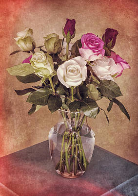 Digital Art - Vintage Roses by Sandra Selle Rodriguez