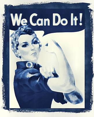 Vintage Rosie The Riveter Art Print by Dan Sproul