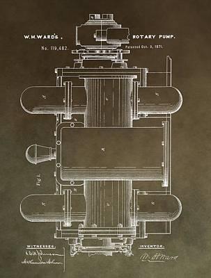 Vintage Rotary Pump Patent Art Print