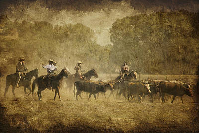 Roundup Photograph - Vintage Roundup by Priscilla Burgers