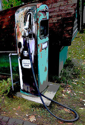 Photograph - Vintage Rusty Gas Pump Abstract Fine Art Photography Print  by Jerry Cowart