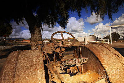 Photograph - Vintage Rusty Old Abandoned Farm Tractor  by Jerry Cowart