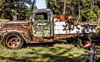 Photograph - Vintage Rusty Old Truck 1940 by Peggy Franz
