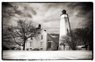 Old School House Photograph - Vintage Sandy Hook by John Rizzuto