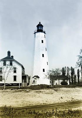 Sandy Hook Digital Art - Vintage Sandy Hook Lighthouse by Bill Cannon