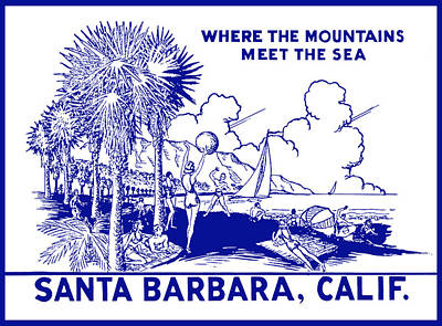 Painting - Vintage Santa Barbara by Historic Image