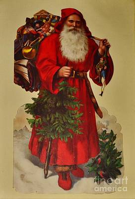 Photograph - Vintage Santa Print by Bob Sample