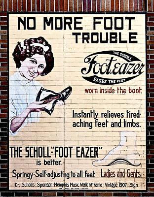 Photograph - Vintage Scholl Sign by Liz Leyden
