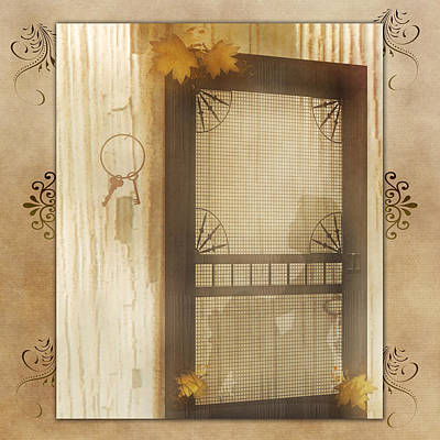 Digital Art - Vintage Screen Door by TnBackroadsPhotos