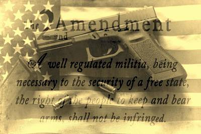 The 2nd Amendment Photograph - Vintage Second Amedment by Dan Sproul