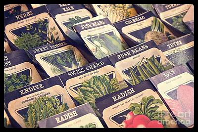 Kale Photograph - Vintage Seed Packages by Edward Fielding