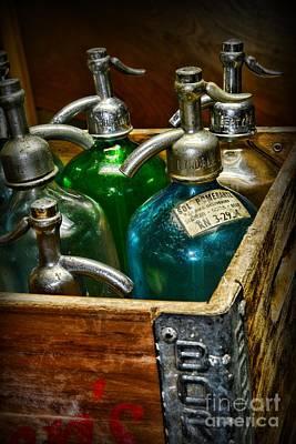 Vintage Seltzer Bottles Art Print by Paul Ward