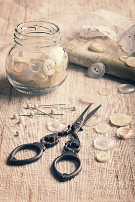 Photograph - Vintage Sewing by Amanda Elwell