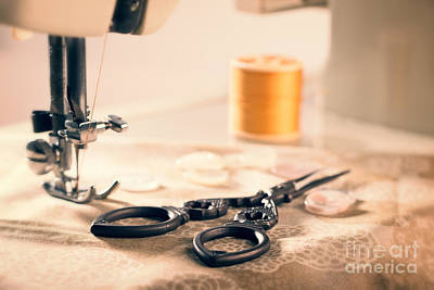 Photograph - Vintage Sewing Machine by Amanda Elwell