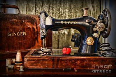 Bobbins Photograph - Vintage Sewing Machine by Paul Ward