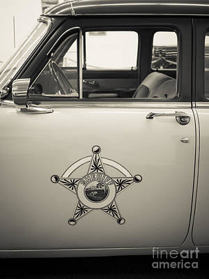 Photograph - Vintage Sheriffs Police Car by Edward Fielding