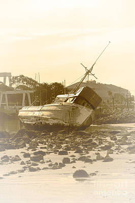 Photograph - Vintage Shipwreck  by Artist and Photographer Laura Wrede