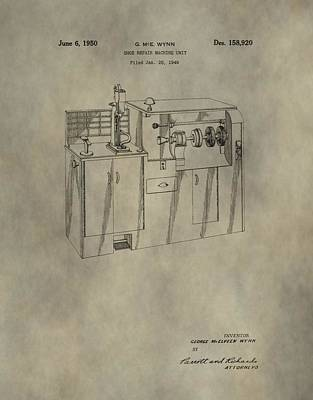 Machinery Mixed Media - Vintage Shoe Repair Machine Patent by Dan Sproul