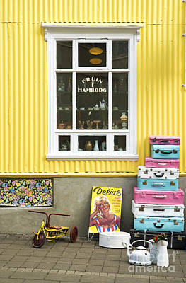 Vintage Shop In Akureyri Iceland Art Print