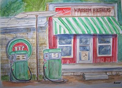 Painting - Vintage Sinclair Gas Station by Belinda Lawson