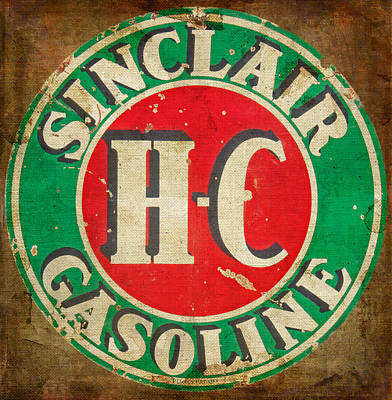 Photograph - Vintage Sinclair Gasoline Sign by HH Photography of Florida