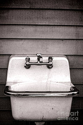 Old Houses Photograph - Vintage Sink by Olivier Le Queinec