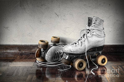 Vintage Skates Art Print by Carlos Caetano