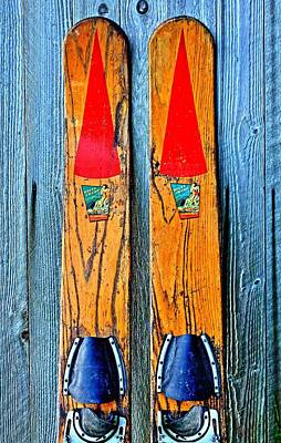Watersports Wall Art - Photograph - Vintage Skis by Benjamin Yeager